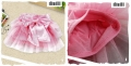 XTB Korea Sweet Pink Ribbon Layers Cake Skirt 韩单粉红色蝴蝶结网纱裙裤