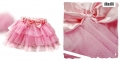XTB Korea Sweet Pink Ribbon Layers Cake Skirt 韩单粉红色网纱蛋糕短裙