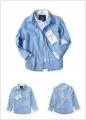 ZARA BOY Blue Checked LS Shirt 新款男童假两件衬衣