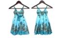 ZARA Blue Spagetti Dress 女童气质民族风连衣