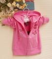 ZARA Butterfly Pink Hoodie Jacket 蝴蝶刺绣外套