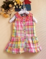 ZARA Checker Colourful Dress 花边方格洋装