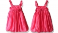 ZARA Cherry Pink Soft Tutu Dress 泡泡纱花朵吊带灯笼裙