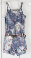 ZARA Dye Printing Jumper with Belt 杂染印花连体裤
