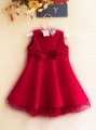 ZARA Elegant Red Dress 蝴蝶结绒裙【中国红】