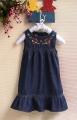 ZARA Embroidery Denim Dress 刺绣洋装
