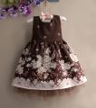 ZARA Floral Brown Dress 小花花边洋装【咖啡】