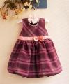 ZARA Purple Red Checker Tutu Dress 小蝴蝶结蓬蓬裙【紫红】