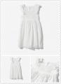 ZARA WHITE DRESS WITH EMBROIDERED HEM 荷叶边礼服长裙