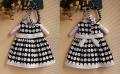 ZARA White Dots Black Dress (2Pcs Set) 黑白圆点洋装