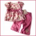 Zara Adorable Floral Pink 2 Pcs Set原单 小花花两件套