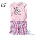Zara Best Friend Pink 2 Pcs Set 女童可爱粉色套 装