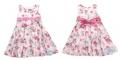 Zara Floral Pink Dress 新款活性棉浅色花朵连身裙