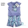 Zara  Doggie Purple 2 Pcs Set 女童可爱狗狗紫色套装