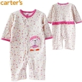 Carter's Sweetie Bear Floral Sleeper 可爱平脚哈衣脚哈衣