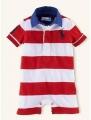 Ralph Lauren Red Stripe Romper 红条纹哈衣